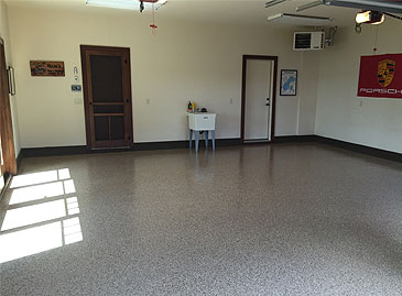 floor coating installation